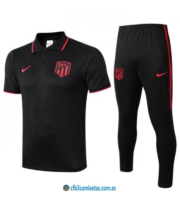 CFB3-Camisetas Polo  Pantalones Atlético Madrid 2019 2020