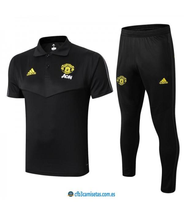 CFB3-Camisetas Polo  Pantalones Manchester United 2019 2020