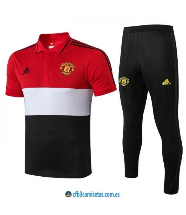 CFB3-Camisetas Polo  Pantalones Manchester United 2019 2020 Raya