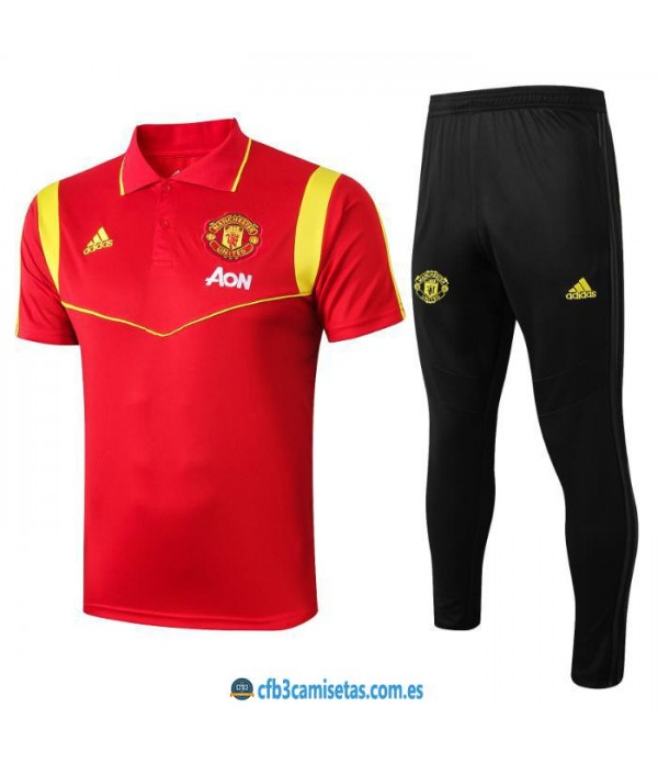 CFB3-Camisetas Polo  Pantalones Manchester United 2019 2020 Red