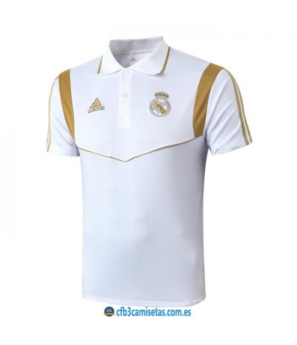 CFB3-Camisetas Polo Real Madrid 2019 2020 Blanco