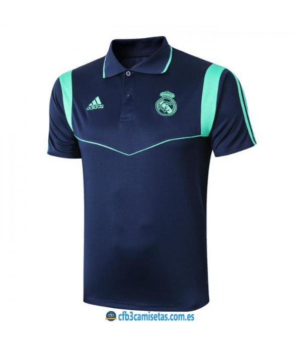 CFB3-Camisetas Polo Real Madrid 2019 2020 Blue