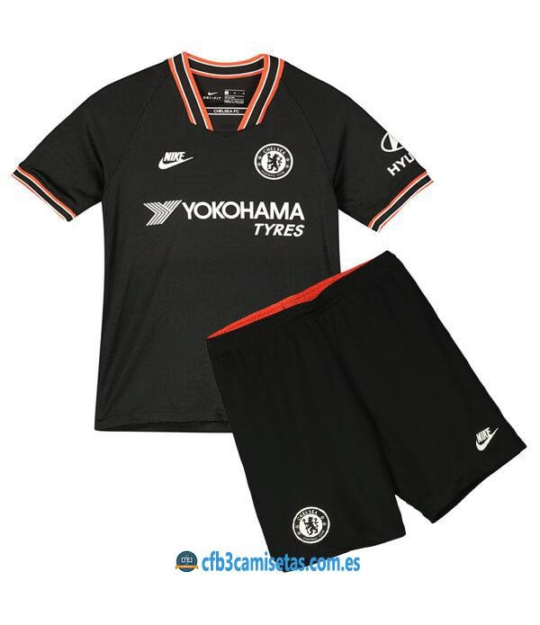 CFB3-Camisetas Chelsea 3a Equipación 2019 2020 Kit Junior