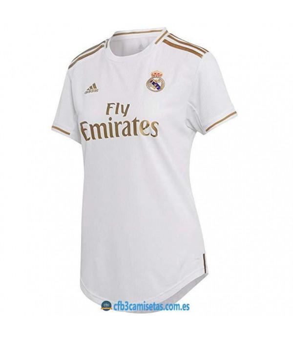 CFB3-Camisetas Real Madrid 1a Equipación 2019 2020 MUJER