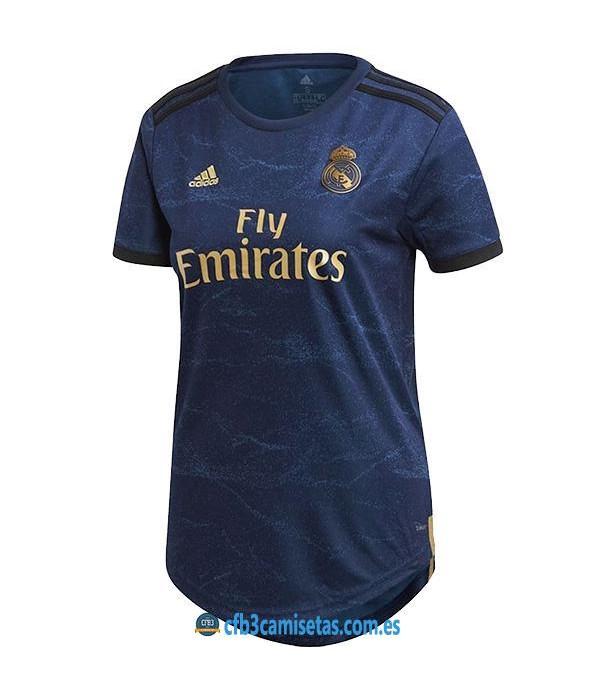 CFB3-Camisetas Real Madrid 2a Equipación 2019 2020 MUJER