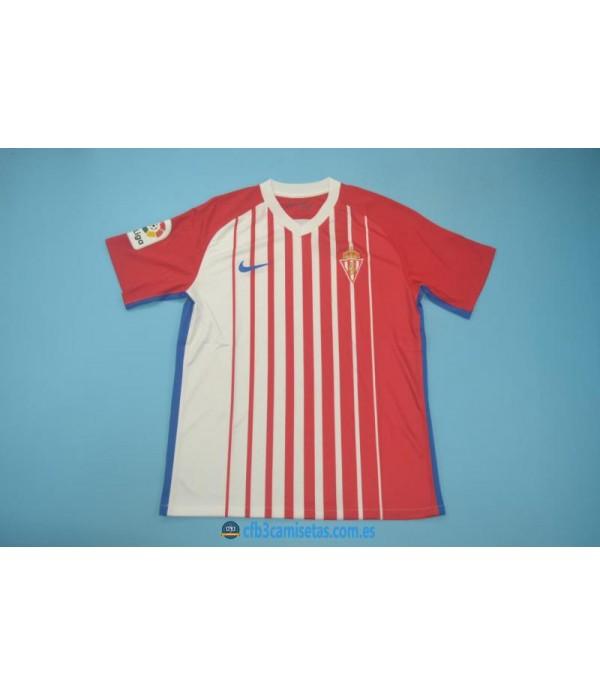CFB3-Camisetas Sporting de Gijon 1ª Equipacion 2019 2020