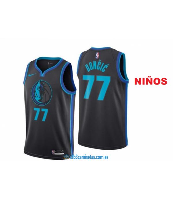 CFB3-Camisetas Luka Doncic Dallas Mavericks City Edition 2019NIÑOS