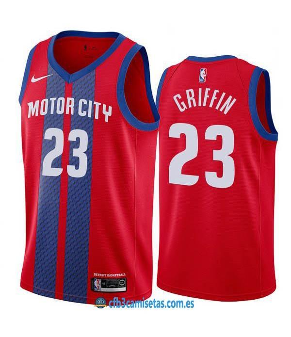 CFB3-Camisetas Blake Griffin Detroit Pistons 2019 2020 City Edition