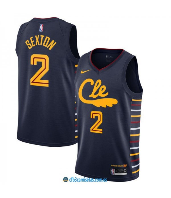 CFB3-Camisetas Collin Sexton Cleveland Cavaliers 2019 2020 City Edition