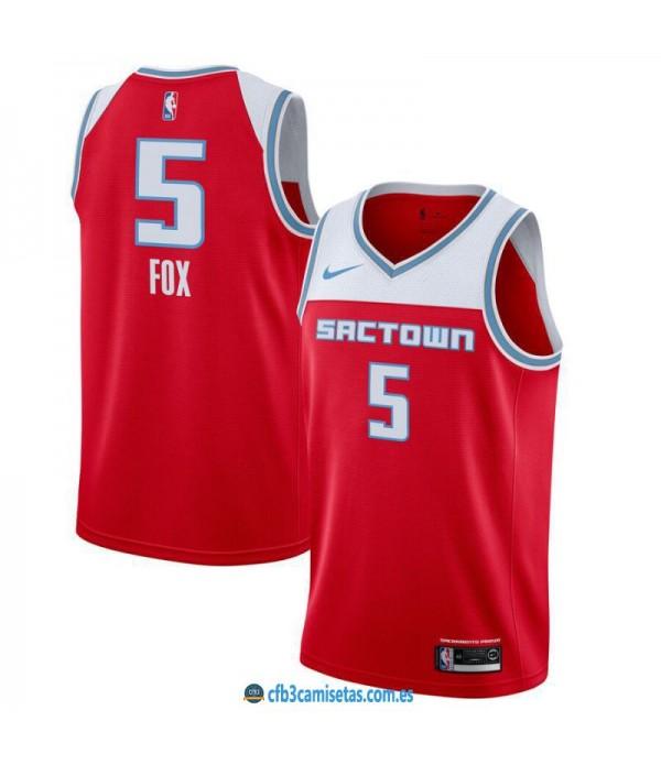 CFB3-Camisetas DeAaron Fox Sacramento Kings 2019 2020 City Edition