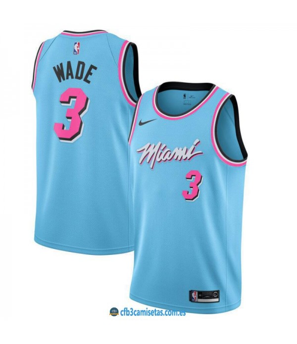 CFB3-Camisetas Dwyane Wade Miami Heat 2019 2020 City Edition