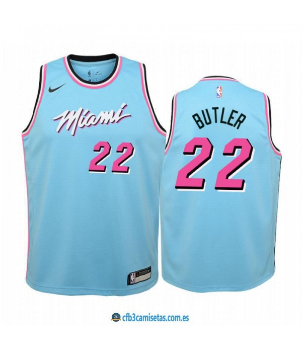 CFB3-Camisetas Jimmy Butler Miami Heat 2019 2020 City Edition