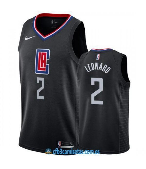 CFB3-Camisetas Kawhi Leonard Los Angeles Clippers 2019 2020 Statement