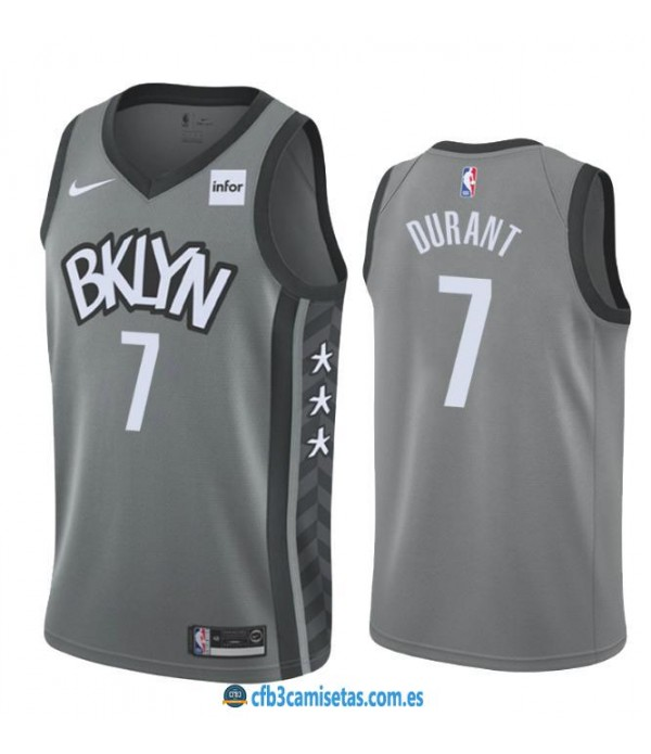 CFB3-Camisetas Kevin Durant Brooklyn Nets 2019 2020 Statement