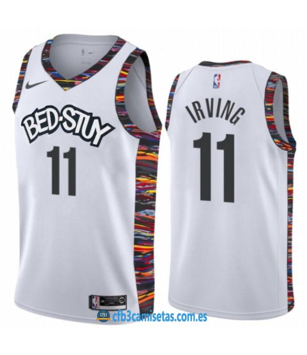 CFB3-Camisetas Kyrie Irving Brooklyn Nets 2019 2020 City Edition