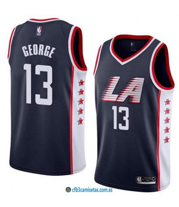 CFB3-Camisetas Paul George Los Angeles Clippers 2018 2019 City Edition