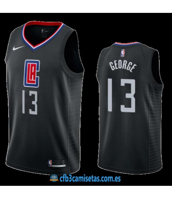 CFB3-Camisetas Paul George Los Angeles Clippers 2019 2020 Statement