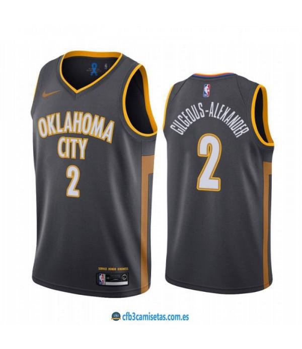 CFB3-Camisetas Shai Gilgeous Alexander Oklahoma City Thunder 2019 2020 City Edition