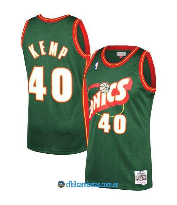 CFB3-Camisetas Shawn Kemp Seattle SuperSonics 1995 96