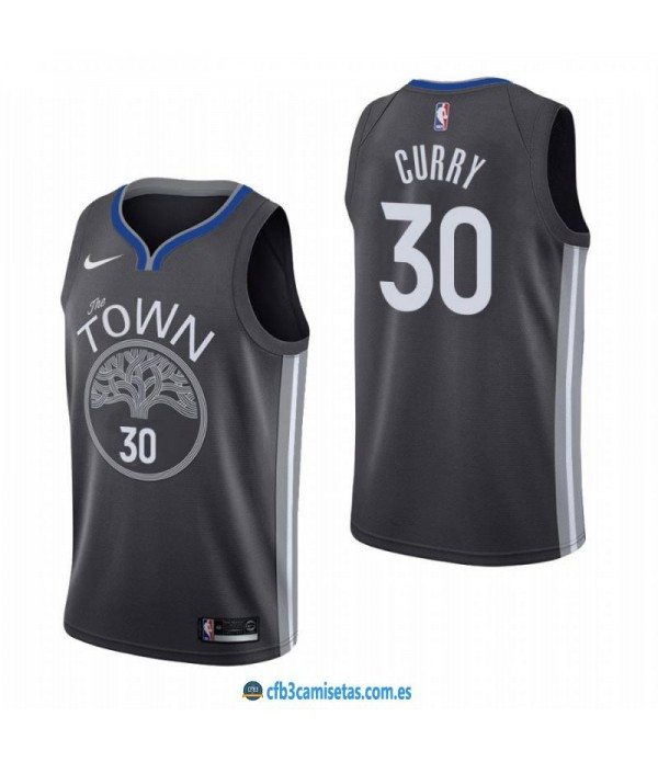 CFB3-Camisetas Stephen Curry Golden State Warriors 2019 2020 City Edition