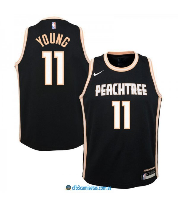 CFB3-Camisetas Trae Young Atlanta Hawks 2019 2020 City Edition