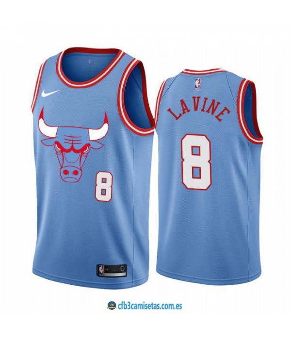 CFB3-Camisetas Zach LaVine Chicago Bulls 2019 2020 City Edition