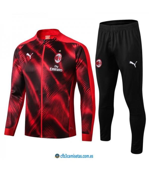 CFB3-Camisetas Chándal AC Milan 2019 2020 JUNIOR