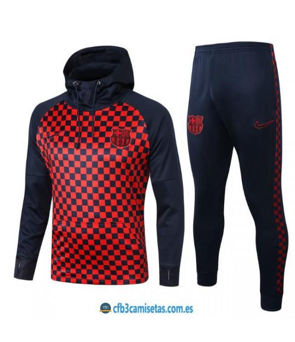 CFB3-Camisetas Chándal FC Barcelona 2019 2020 Cuadros