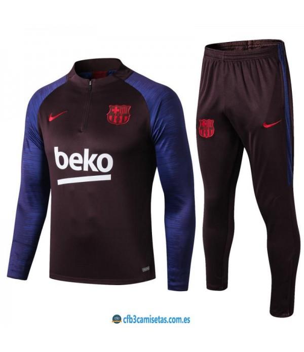 CFB3-Camisetas Chándal FC Barcelona 2019 2020 Negro JUNIOR