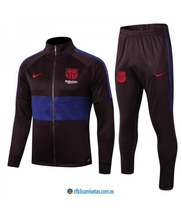 CFB3-Camisetas Chándal FC Barcelona 2019 2020 Raya JUNIOR