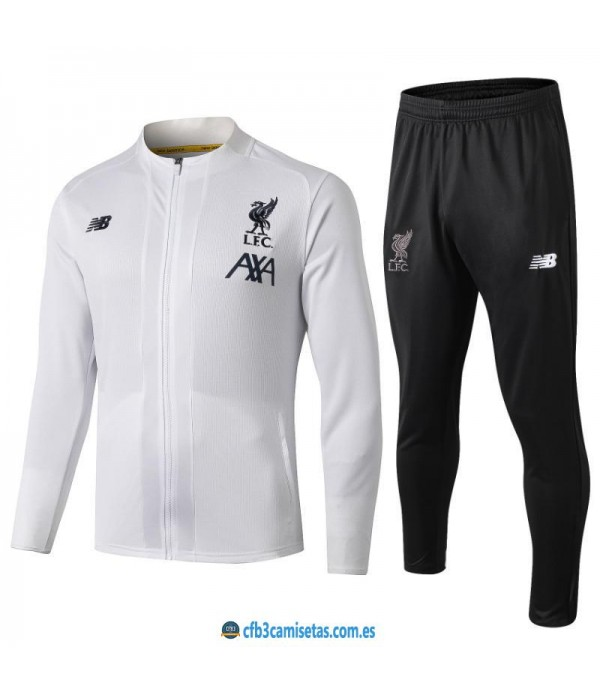 CFB3-Camisetas Chándal Liverpool 2019 2020 Blanco JUNIOR