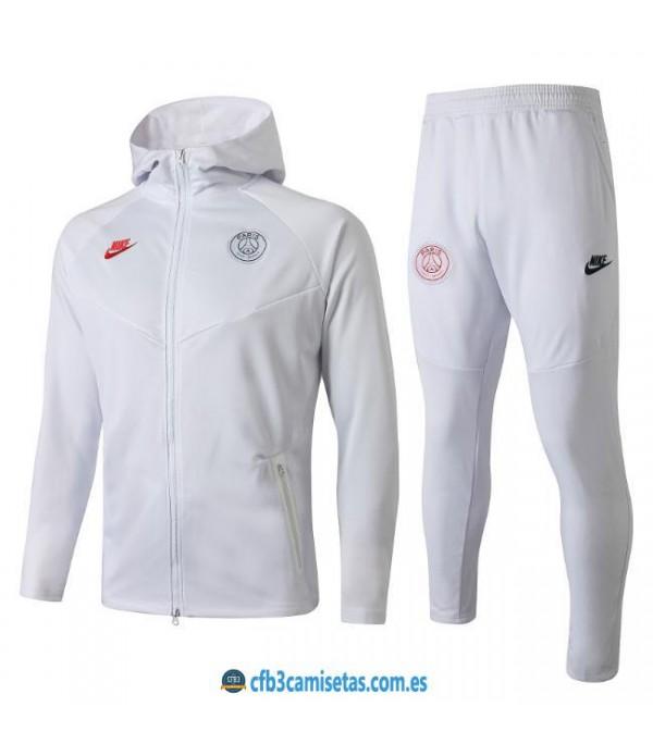CFB3-Camisetas Chándal PSG 2019 2020 Total White
