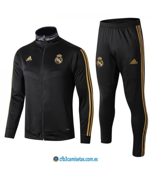 CFB3-Camisetas Chándal Real Madrid 2019 2020 JUNIOR