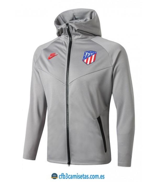 CFB3-Camisetas Chaqueta con capucha Atlético Madrid 2019 2020