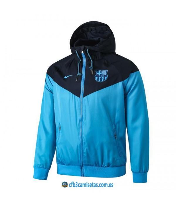 CFB3-Camisetas Chaqueta con capucha FC Barcelona 2019 2020 Azul
