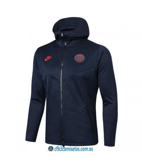 CFB3-Camisetas Chaqueta con capucha PSG 2019 2020
