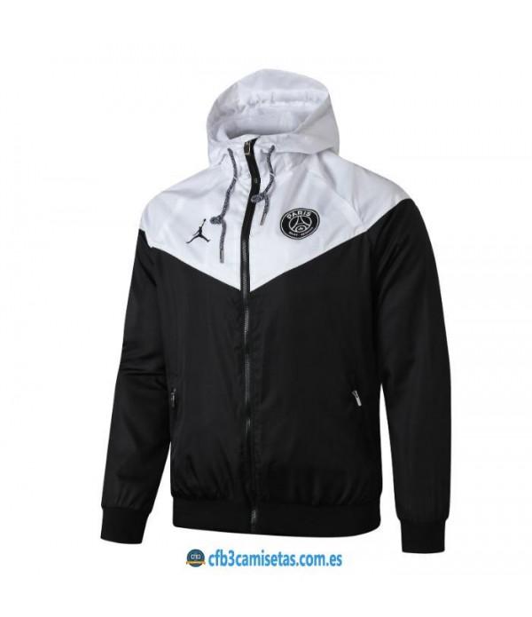 CFB3-Camisetas Chaqueta con capucha PSG x Jordan 2019 2020 2
