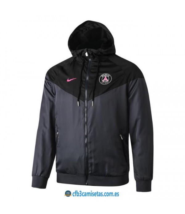 CFB3-Camisetas Chaqueta con capucha PSG x Jordan 2019 2020 Negra