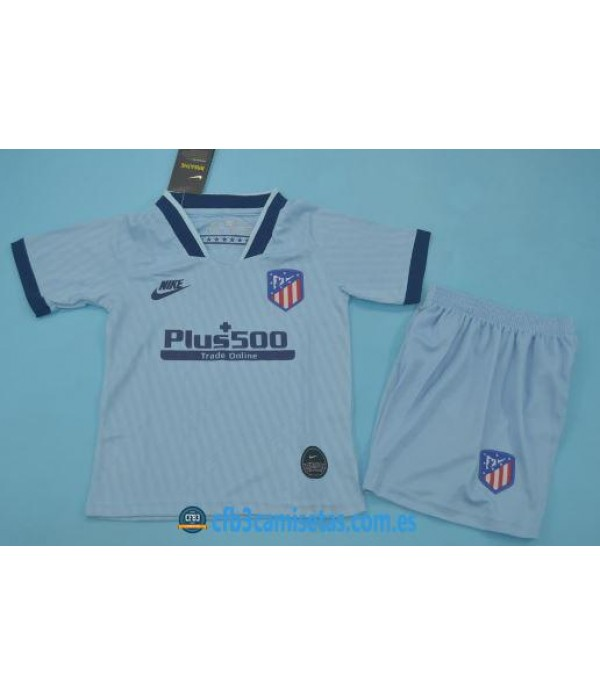 CFB3-Camisetas Atlético Madrid 3a Equipación 2019 2020 Kit Junior