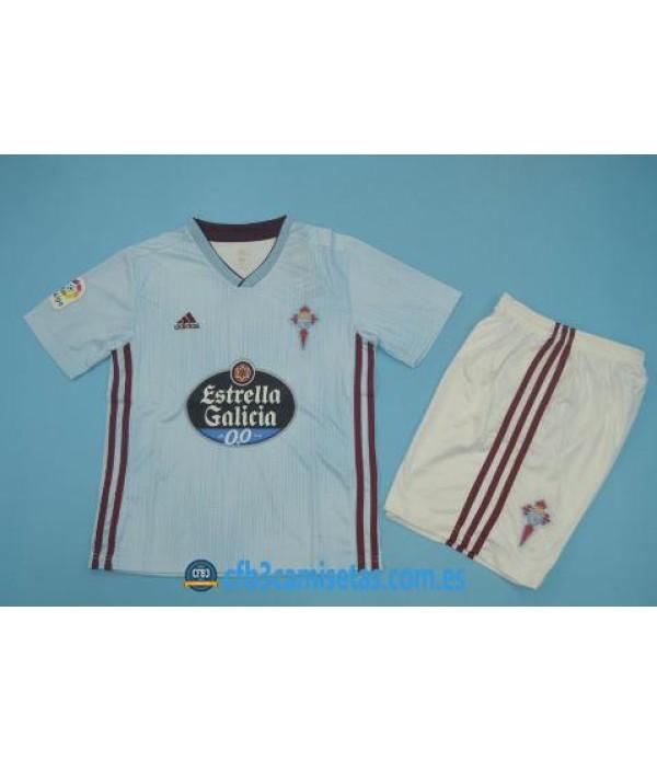 CFB3-Camisetas Celta de Vigo 1a Equipación 2019 2020 Kit Junior