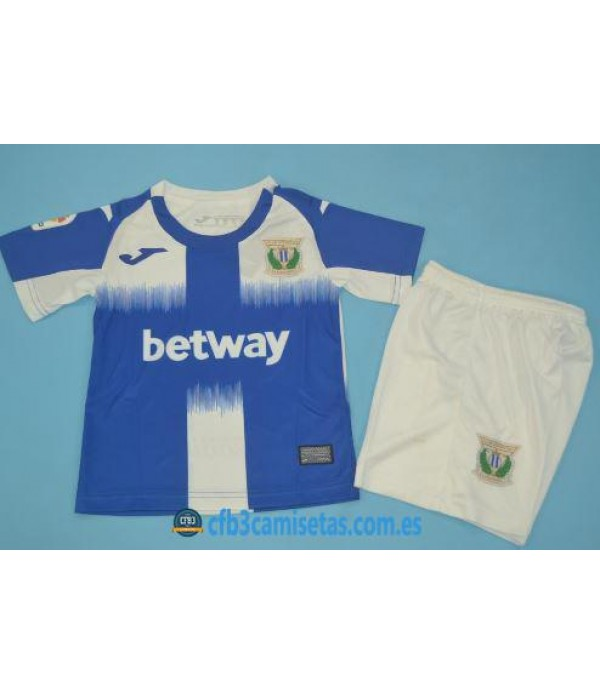 CFB3-Camisetas Leganes 1a Equipación 2019 2020 Kit Junior