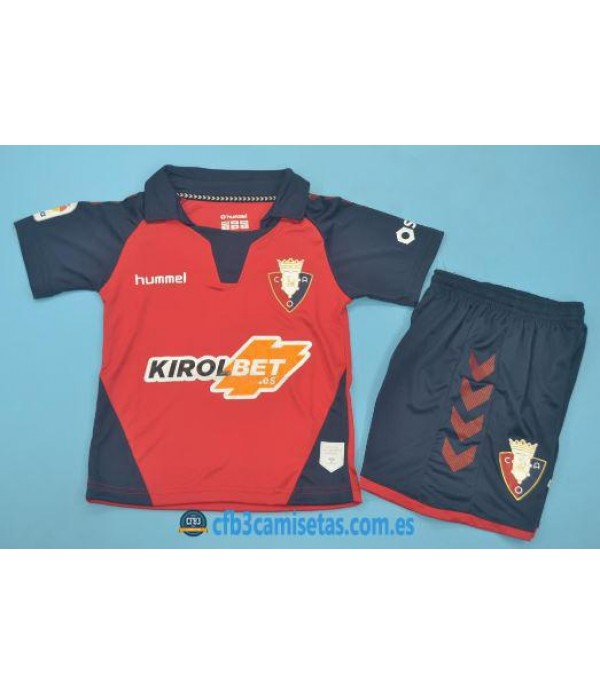 CFB3-Camisetas Osasuna 1a Equipación 2019 2020 Kit Junior