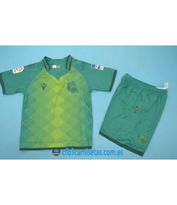 CFB3-Camisetas Real Sociedad 2a Equipación 2019 2020 Kit Junior