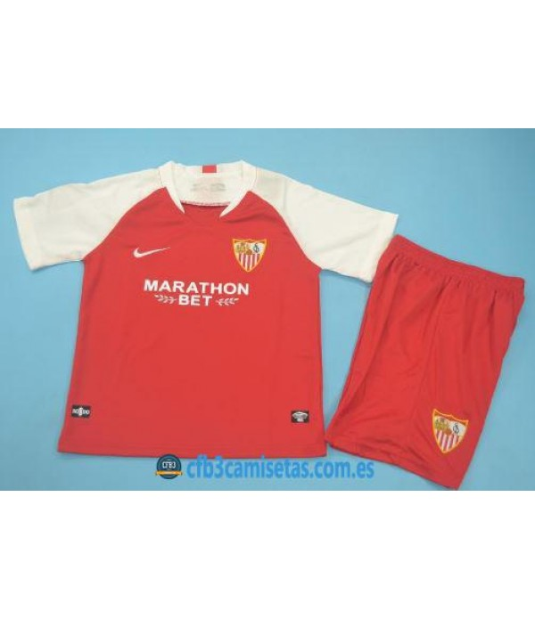 CFB3-Camisetas Sevilla 2a Equipación 2019 2020 Kit Junior