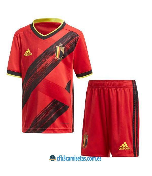 CFB3-Camisetas Bélgica 1a Equipación 2020 Kit Junior