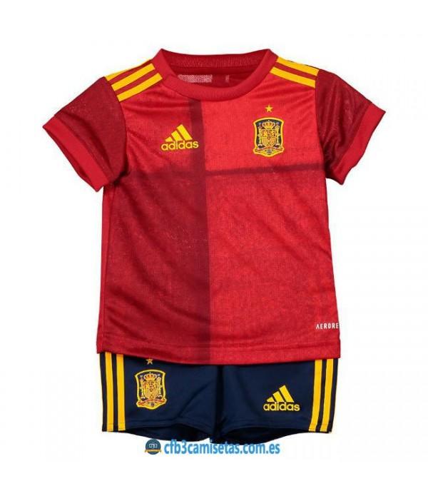 CFB3-Camisetas España 1a Equipación 2020 Kit Junior