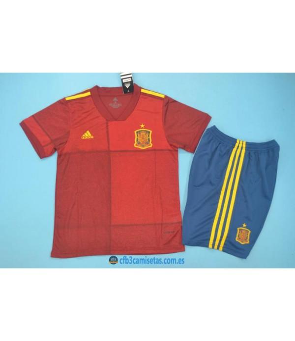 CFB3-Camisetas España 1a Equipación 2020 NIÑOS