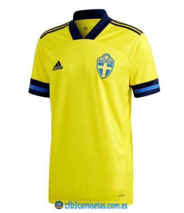 CFB3-Camisetas Suecia 1a Equipación 2020
