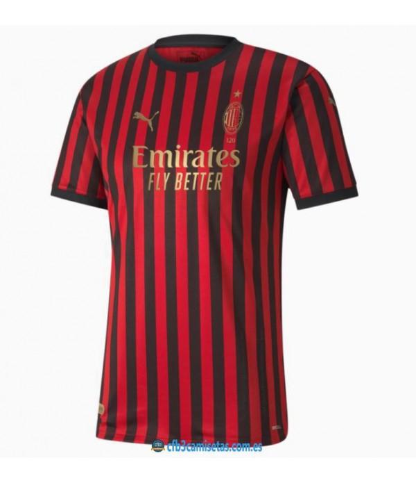 CFB3-Camisetas Camiseta AC Milan 120 ANNI