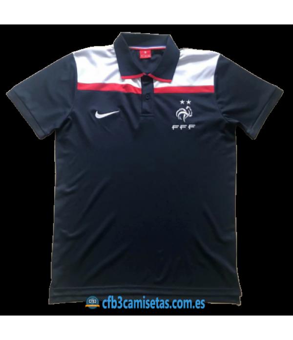 CFB3-Camisetas Polo Francia 2020 Negro